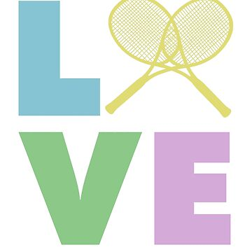 Tennis Love Gifts for the Coach, Player, Pro, Kids by sparkpress