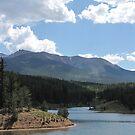 Pikes Peak at Catamount Reservoir (Colorado) by janetmarston