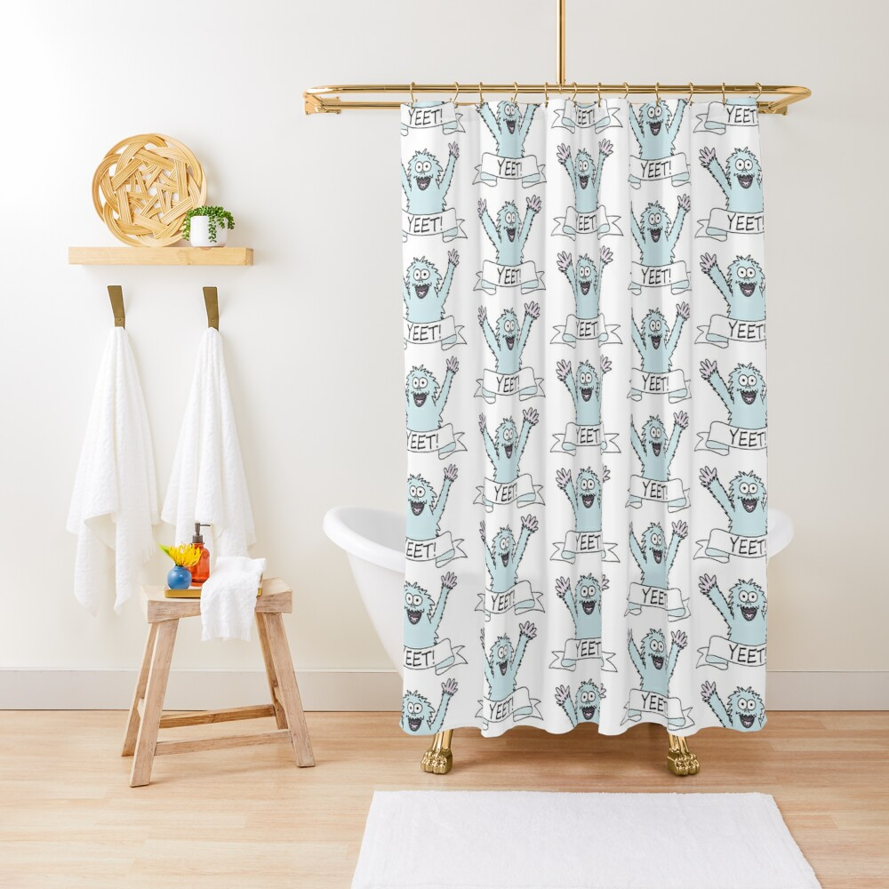 If a Yeti yeets, is it a Yeeti? Shower Curtain