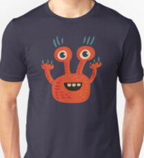 Cute Orange Monster Is Funny Too Unisex T-Shirt