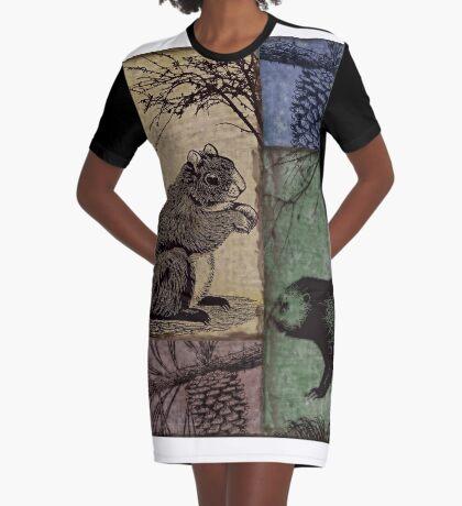 Wild Game Patchwork VIII Graphic T-Shirt Dress