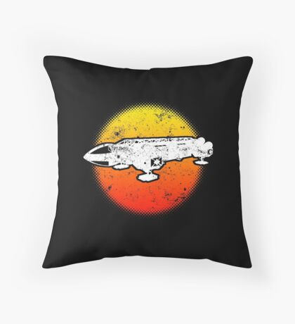 Space Eagle 1 Transporter 1999 Dive Dark Throw Pillow