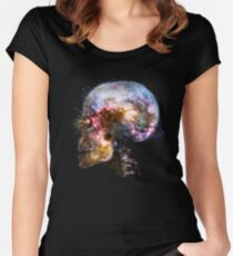 Skull Space Women's Fitted Scoop T-Shirt