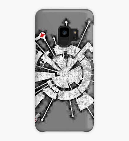 Alpha Moon Base Grunge Back Case/Skin for Samsung Galaxy