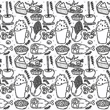 Monochrome Series - Happy Thanksgiving by nadiairianto