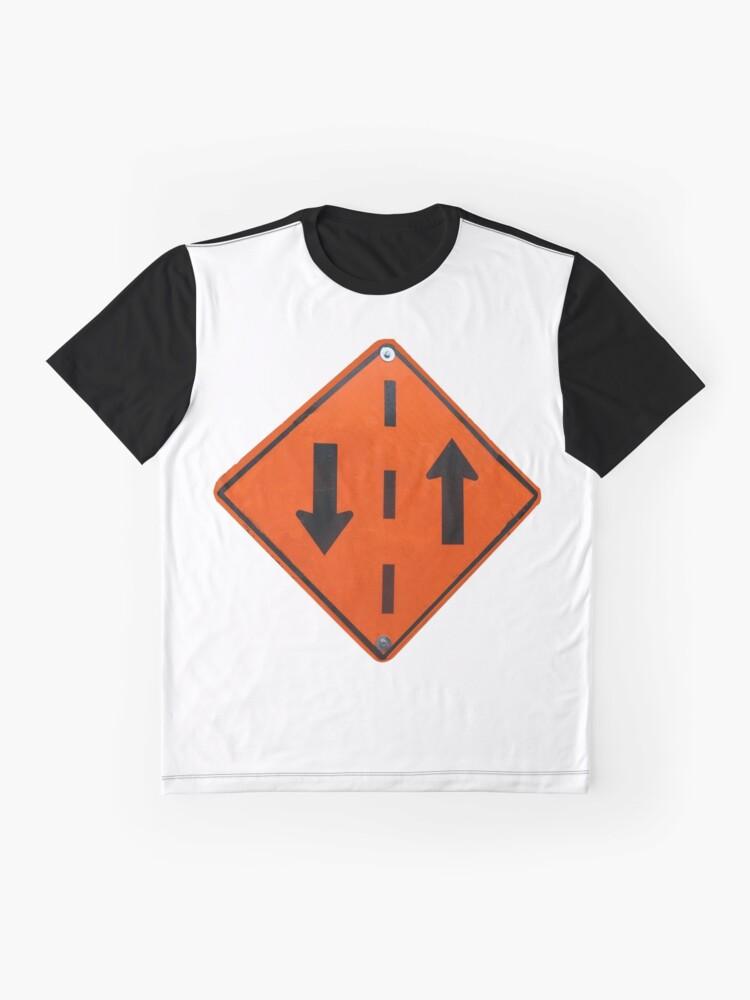 T-shirt graphique ''Panneau circulation dans les deux sens': autre vue
