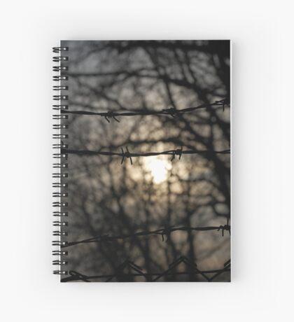 barbed wire sun Spiral Notebook