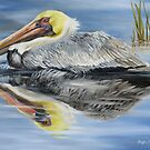 Cedar Point Pelican 2 by Phyllis Beiser