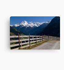 Alpine Fence Canvas Print