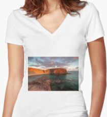 Papagayo Beach Women's Fitted V-Neck T-Shirt