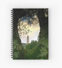 Glendalough view Spiral Notebook