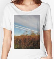 Autumn, Calvert Vaux Park, New York City, Brooklyn #Autumn #CalvertVauxPark, #NewYorkCity, #Brooklyn, Bay 44th St. &, Hunter Ave, Brooklyn, NY 11214, USA Women's Relaxed Fit T-Shirt