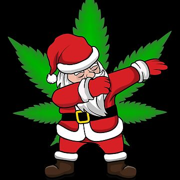 Dabbing Santa Canabis Weed be better Dab Danceing 420 cute pajama outfit xmas set to celebtate holidays coworker dab dance move costume by bulletfast