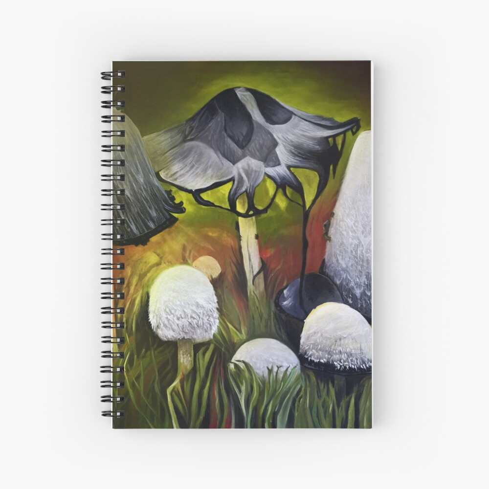 Mushrooms Spiral Notebook