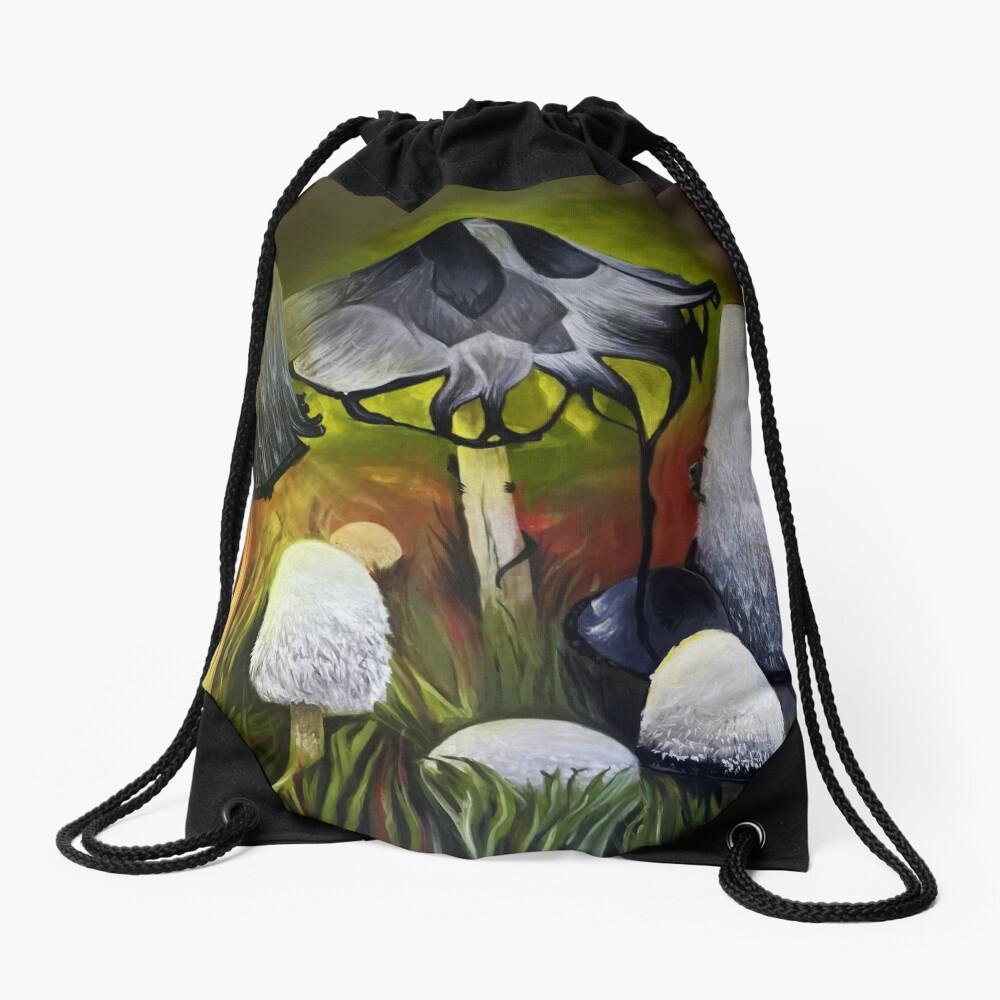 Mushrooms Drawstring Bag