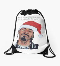 chrismas hat Drawstring Bag