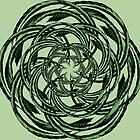 Green Mandala Abstract art by hutofdesigns