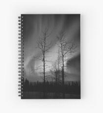 Black and White Auroras (2012 views) Spiral Notebook