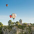 Balloons over the Observatory  by Carolyn Eaton