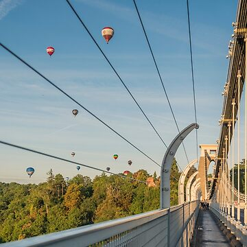 Clifton Suspension Bridge and Balloons by CarolynEaton
