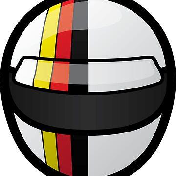 Seb' Vettel helmet design by FelixR1991