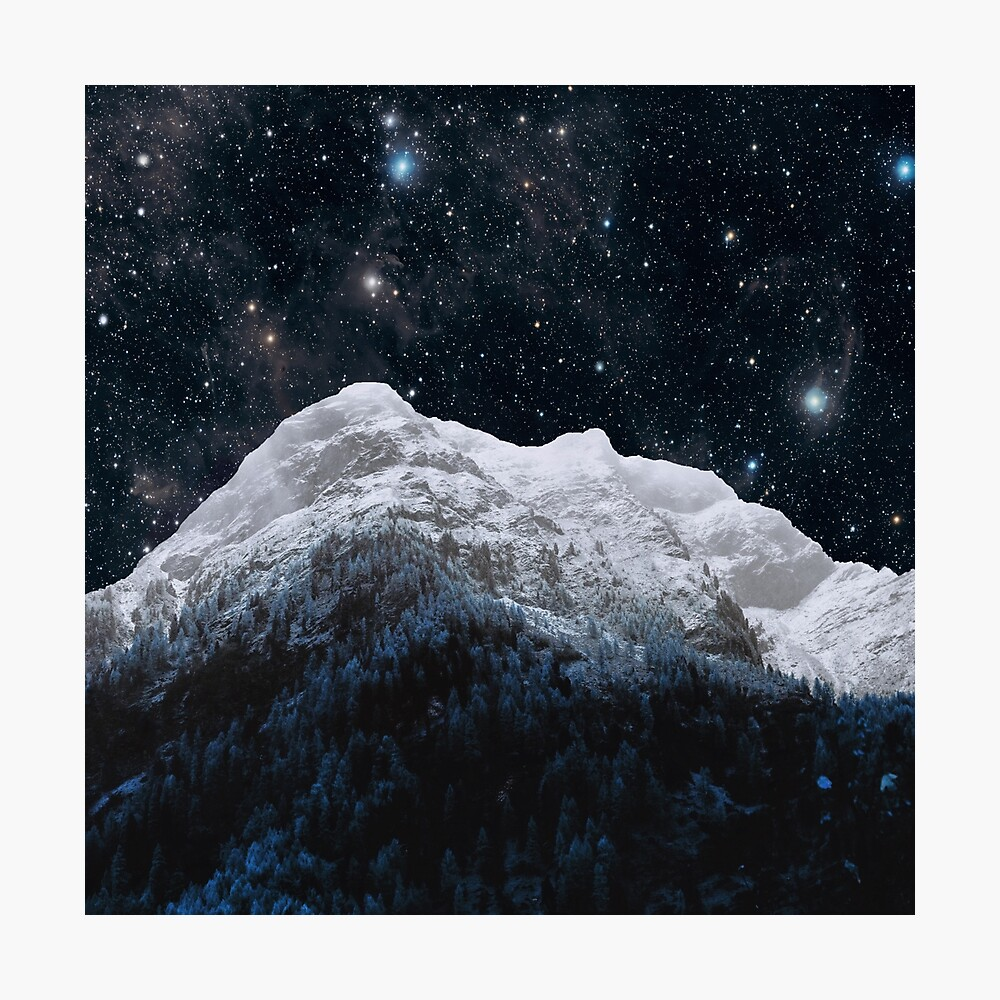 Mountains Attracts Galaxy Photographic Print