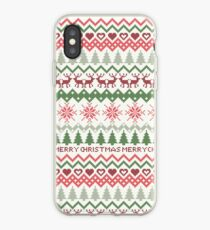 Cross Stitch Xmas Pattern iPhone Case