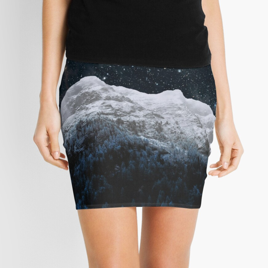 Mountains Attracts Galaxy Mini Skirt