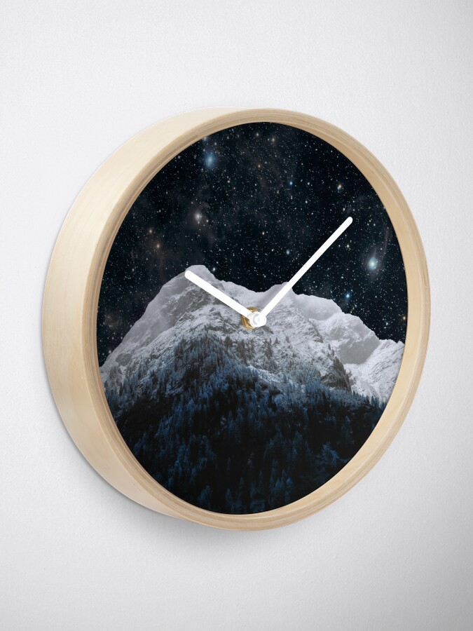 Alternate view of Mountains Attracts Galaxy Clock