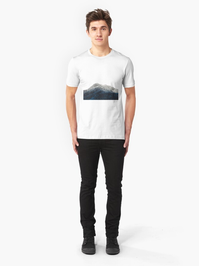 Alternate view of Mountains Attracts Galaxy Slim Fit T-Shirt