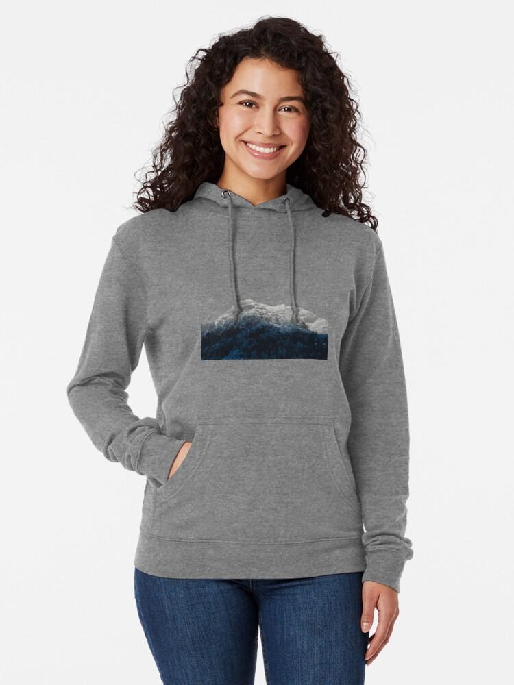 Alternate view of Mountains Attracts Galaxy Lightweight Hoodie