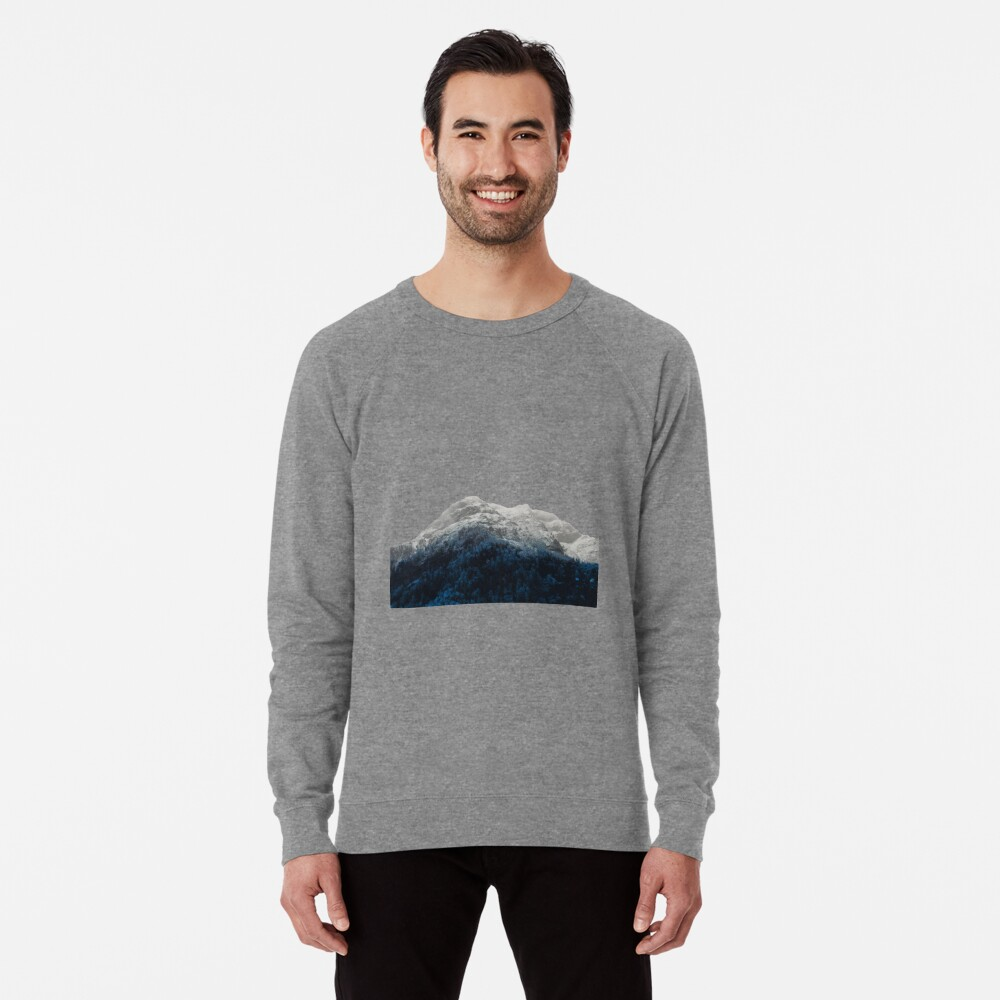 Mountains Attracts Galaxy Lightweight Sweatshirt
