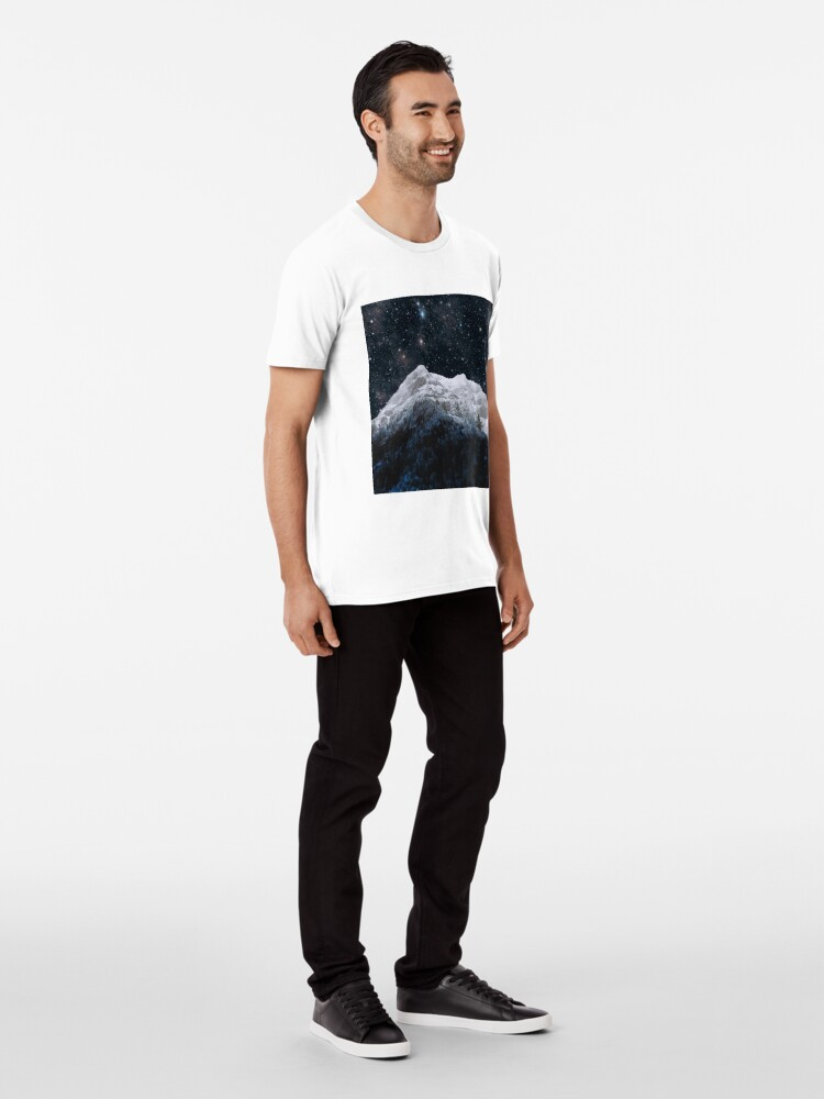 Alternate view of Mountains Attracts Galaxy Premium T-Shirt