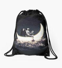 Moon Sailing Drawstring Bag