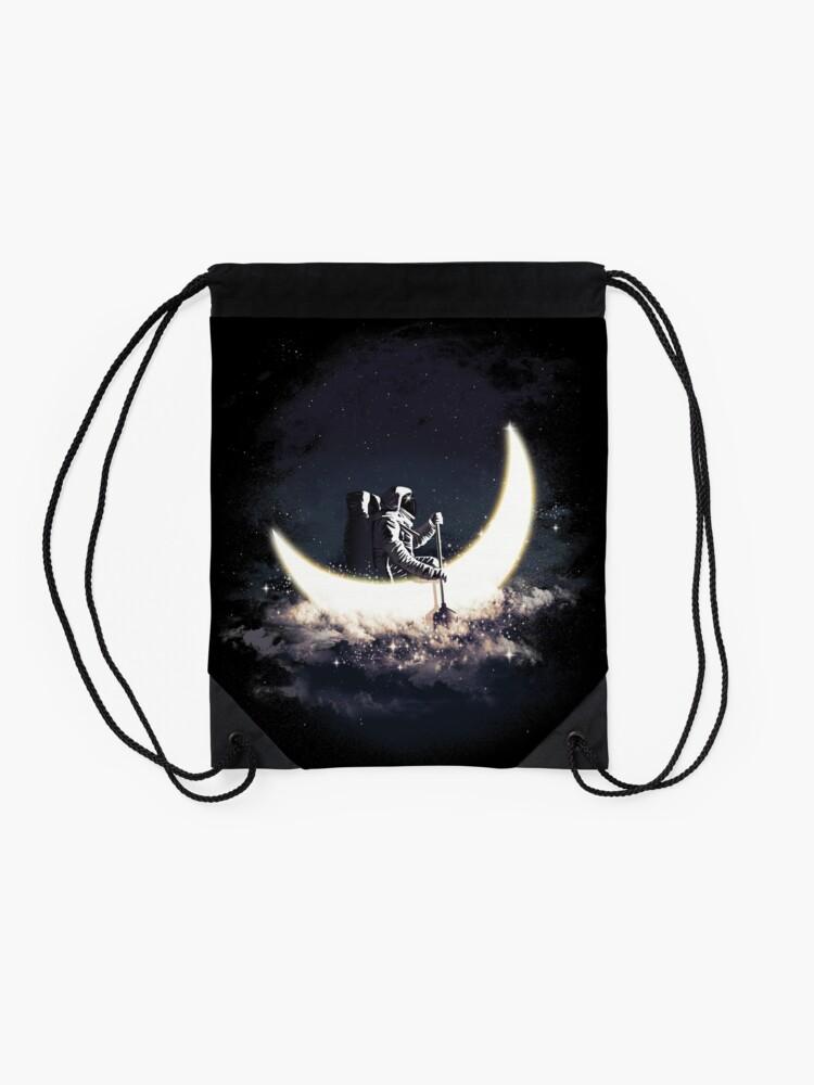 Alternative Ansicht von Mond Segeln Rucksackbeutel