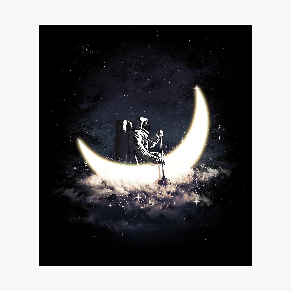 Mond Segeln Fotodruck