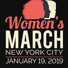 Women's March 2019 New York City by oddduckshirts
