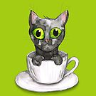 Coffee cat by Bwiselizzy