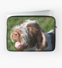 Spinone Puppy Smile - Brown Roan Italian Spinone Puppy Dog Head Shot Laptop Sleeve