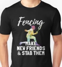 Fencing duel fight gift sports Unisex T-Shirt