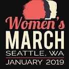 Women's March 2019 Seattle Washington by oddduckshirts