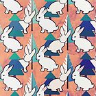 Bunnies and Trees 1 by RoxanneG