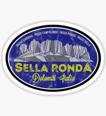 Sella Ronda Dolomites Italy Sticker T-Shirt 02 Sticker