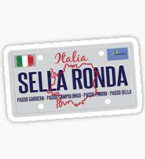 Sella Ronda Dolomites Italy Aufkleber T-Shirt 01 Sticker