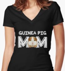 Guinea Pig Mom Mommy Mother Rodent Wheek Gift Idea Women s Fitted V-Neck T- 73c106d84
