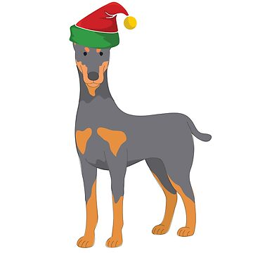 Doberman Dog Christmas Design  by kudostees