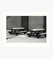 Picnic Tables Art Print