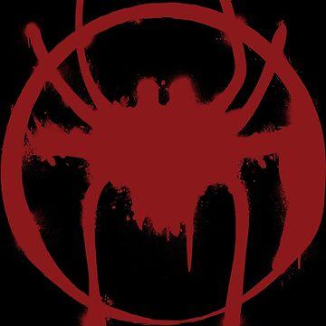 Black & Red Spider by OkamiLine