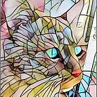 Stained Glass Cat  by kimathy