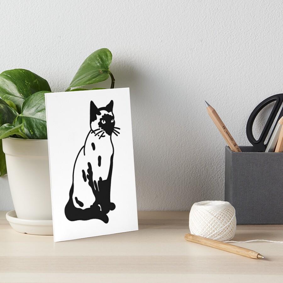 Gato siames Lámina rígida